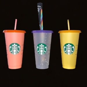 NEW - 3 Starbucks color changing cups